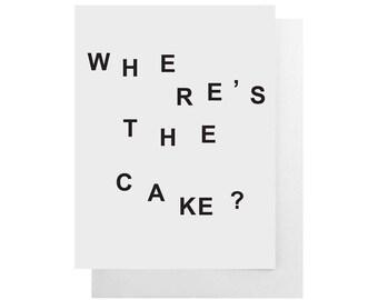 where's the cake card