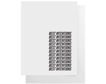 best intentions card