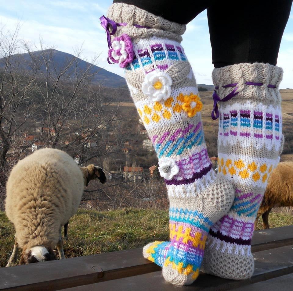 Over The Knee Socks Knee High Socks Knit Knee Sockshandmade Etsy