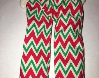 Elf Pants Red White Green Chevron Stripes by Christmas Shelf Clothes for 12 Inch Elf or Pixie New