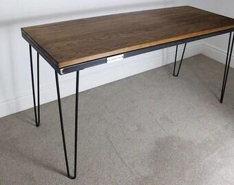 Ashfield Industrial Vintage Style Hairpin Desk