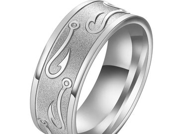 Silver stainless steel rings
