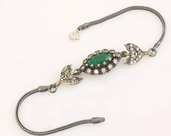 sterling silver Esmeralda bracelet