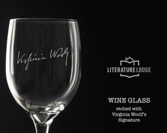 Virginia Woolf Wine Glass