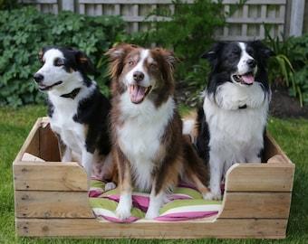 Large Dog Bed - Handmade Wooden Design