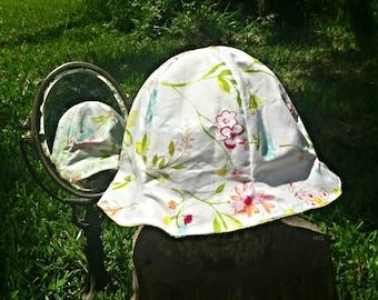 Light sun hat, 6 panel hat, cotton hat, travel gift women, chemo gift, Summer Hat for Her, sun hat women, Handmade in TX, fabric cloche hat