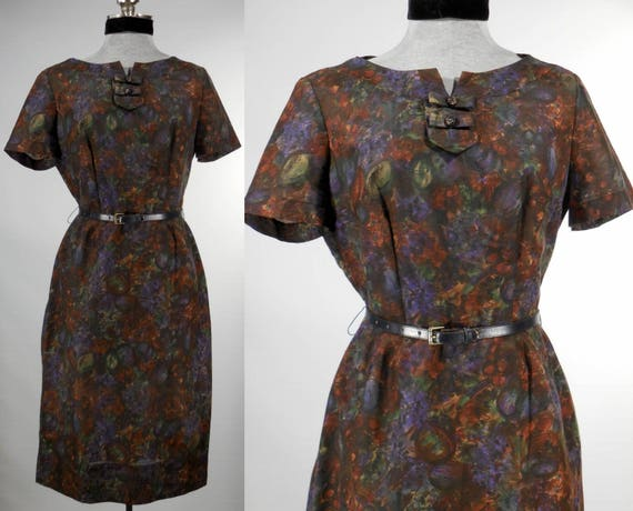 Vintage 1960s day dress office dress dinner dress