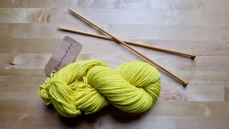 Botanically dyed 100/% Canadian wool