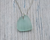 Seafoam Green Lake Erie Beach Glass Necklace