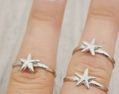 Tiny Starfish Ring in Sterling Silver
