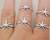 Pointy Starfish Ring in Sterling Silver