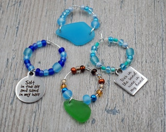 Assorted Glass Wine Charms