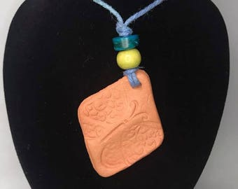 Butterfly diffuser necklace