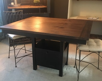 sold counter height dining table only barnwood table farmhouse table black espresso - Farmhouse Counter Height Table