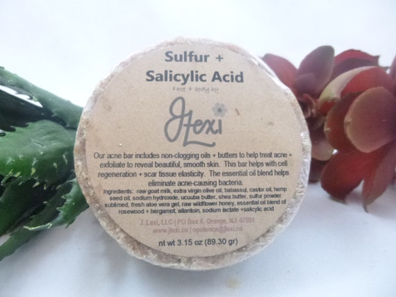 Sulfur Salicylic Acid, sulfur soap, acne soap, handmade soap, salicylic  acid soap, blemish soap,antiseptic soap,eczema soap,facial soap,soap
