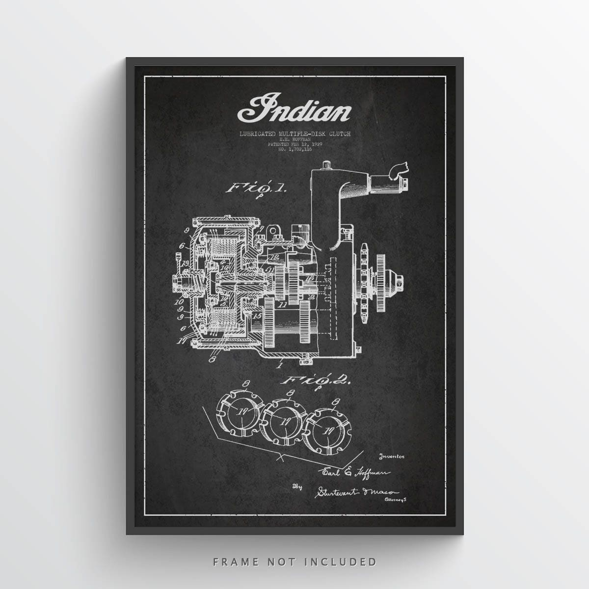 1929 Indian Motorcycle Patent Wall Art Poster Etsy 1948 Engine Diagram Zoom