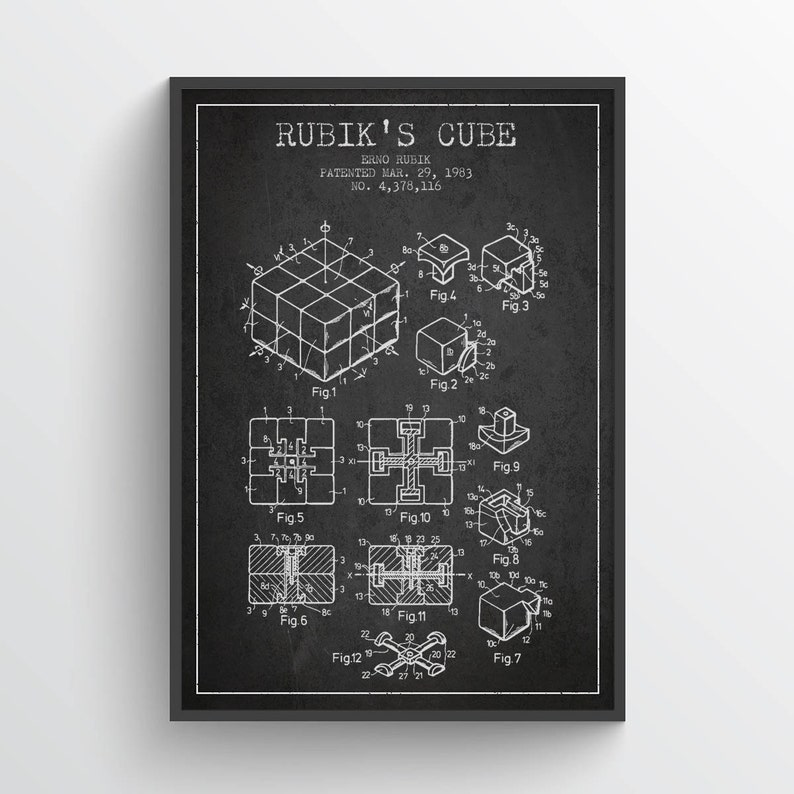 1983 Rubiks Cube Patent Magic Cube print Magic Cube Poster image 0