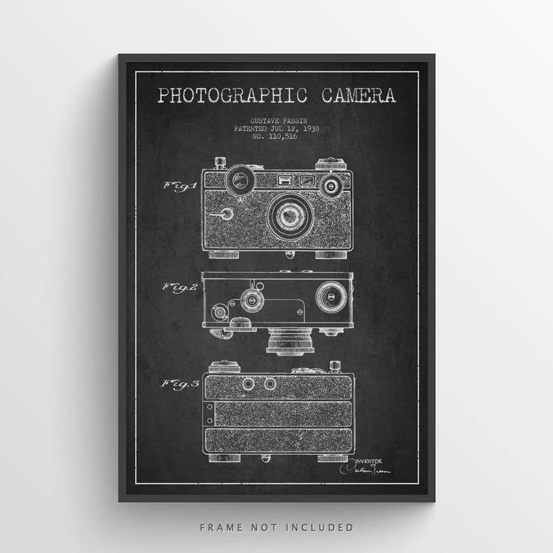 1936 Photographic Camera Patent Poster Patent Art Print image 0