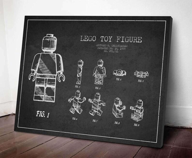 1979 Lego Patent print Lego Poster Lego Print Lego Decor image 0