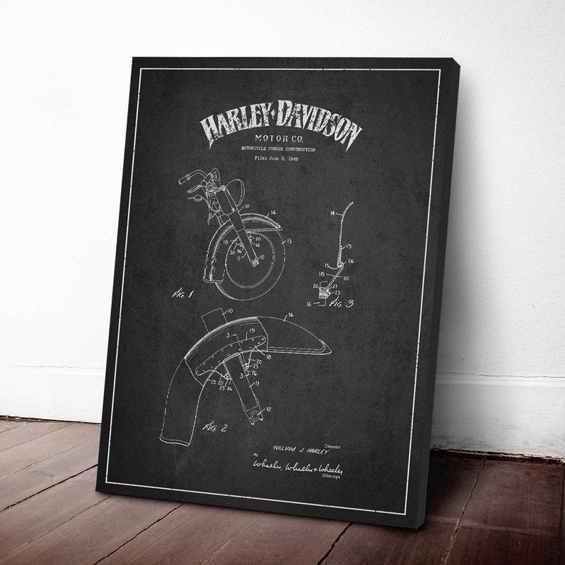 1949 Harley Davidson Motorcycle Patent Harley Davidson Canvas image 0