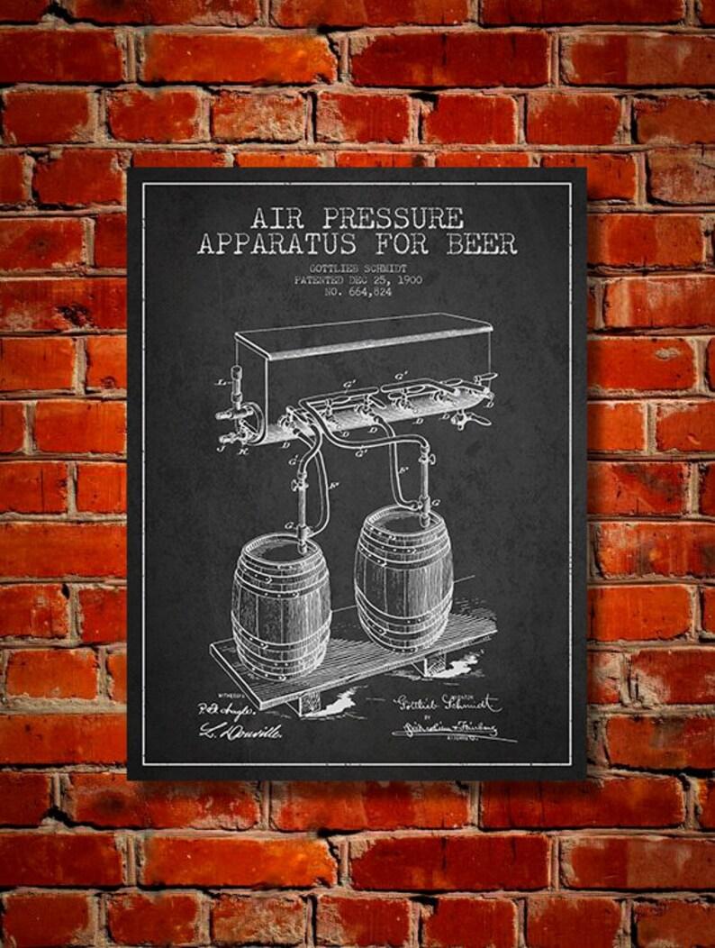 1900 Beer Air Pressure Apparatus Patent Canvas Print  Wall image 0