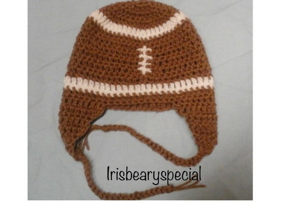 Football Newborn Photo Prop Football Hat Football Crocheted  22450011d