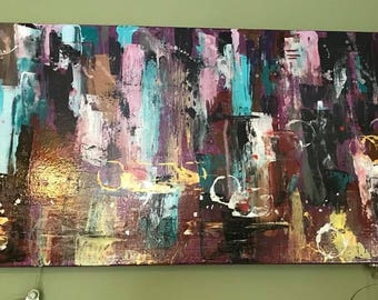 Abstract Multi-Media Canvas