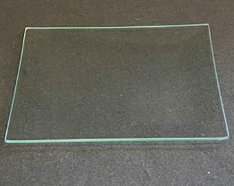 "7/"" Square Clear /""BENT/"" Glass Plate 1//8/"""