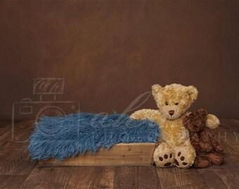 Digital Newborn Backdrop Teddy Box. One of a kind prop!