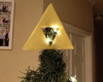 The Legend of Zelda Triforce Christmas Tree Topper