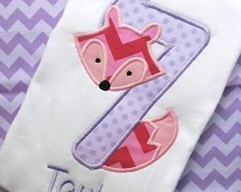 Fox Birthday Shirt, Woodland Animal Birthday Shirt, Fox Onesie