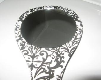 Large Damask Handheld Mirror-Hand Held Mirror
