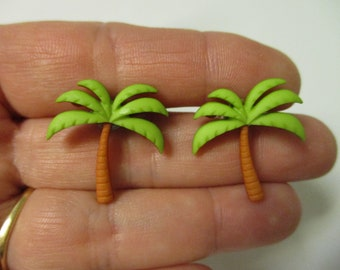 FREE SHIPPING! Palm Tree Stud Earrings-Summer Earrings