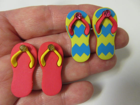d9bed7694b18 FREE SHIPPING Flip Flop Stud Earrings-Summer Earrings-Chevron