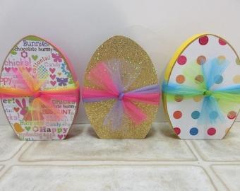Easter Decor-Spring Decor-Wooden Easter Egg Decor