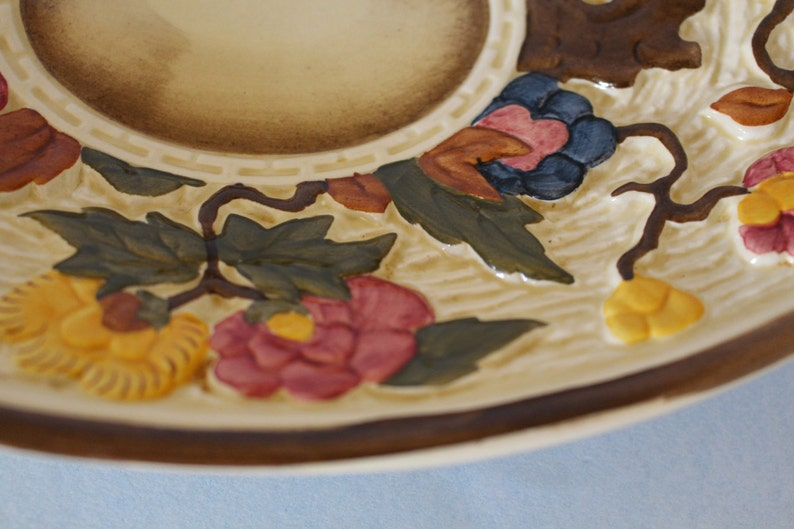 Vintage Indian Tree Oval Underplate for Gray Boat 1769 by HJ Wood LTD England
