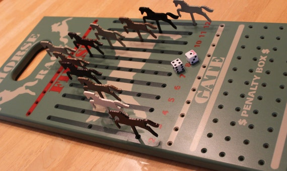 Horse Race Game Wood Horse Race Game Kentucky Derby Wooden Etsy Fascinating Wooden Horse Race Game