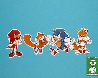 SONIC STICKER PACK/Recyclable/Matte Glossy Sticker