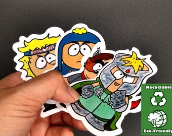 SOUTH PARK Sticker Pack/eco friendly stickers/4pc Sticker Set