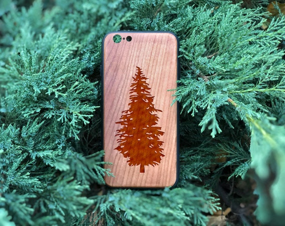 Pine Wooden Iphone Case Tree Iphone Xs Max Case X 8 6 6s Plus 7 Plus Real Wood Case Laser Engraved Iphone Wooden Case Gift For Him