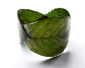 Wrap Cuff  leaf bracelet , Cuff  green bangle, Plant Nature Jewelry,  Cuff Bracelets for woman,  Birthday gift,  forest gift for wife, bio
