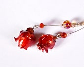 Dried flower, jewelry red...