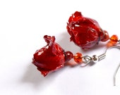 Cute dangle rose earrings...