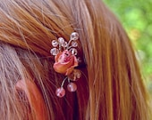 Elegant real rose hair pi...