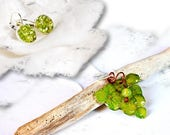 Green jewelry set, fall f...