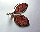 Autumn leaf dangle earrin...