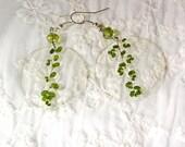 Plant jewelry moss earrin...