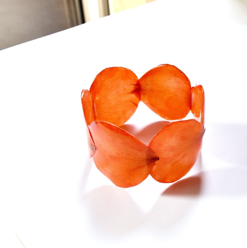 Living coral bracelet Trendy and unique cuff from real image 0