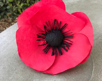 Paper poppies etsy popular items for paper poppies mightylinksfo