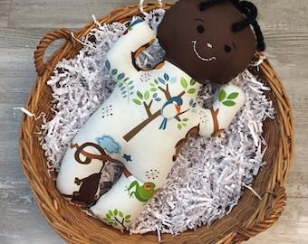 """Handmade Cloth Soft Baby Doll Boy """"Oliver"""""""